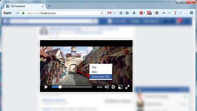 скачать видео с фейсбука через «fbdown.net»