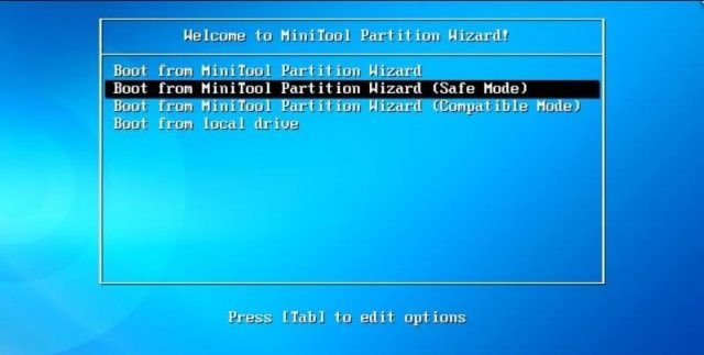 Утилита Minitool Partition Wizard Bootable